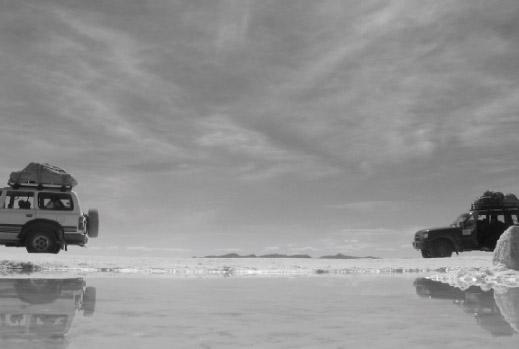 Die Salzwüste des Salar von Uyuni ist eine der wenigen Stätte, die durch Umweltmaßnahmen geschützt werden (Fotograf: Antoine Bayet)